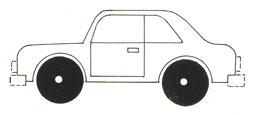 Учимся рисовать машины. Бампер и фары.