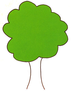 Учимся рисовать деревья. Большое дерево.